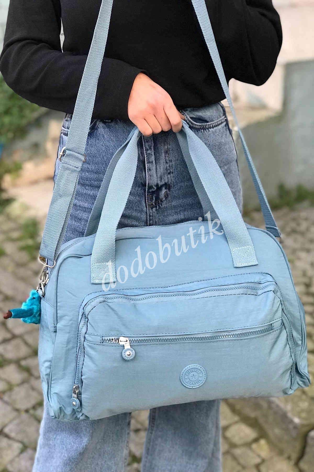 Mavi Valiz Boy El ve Omuz Çantası