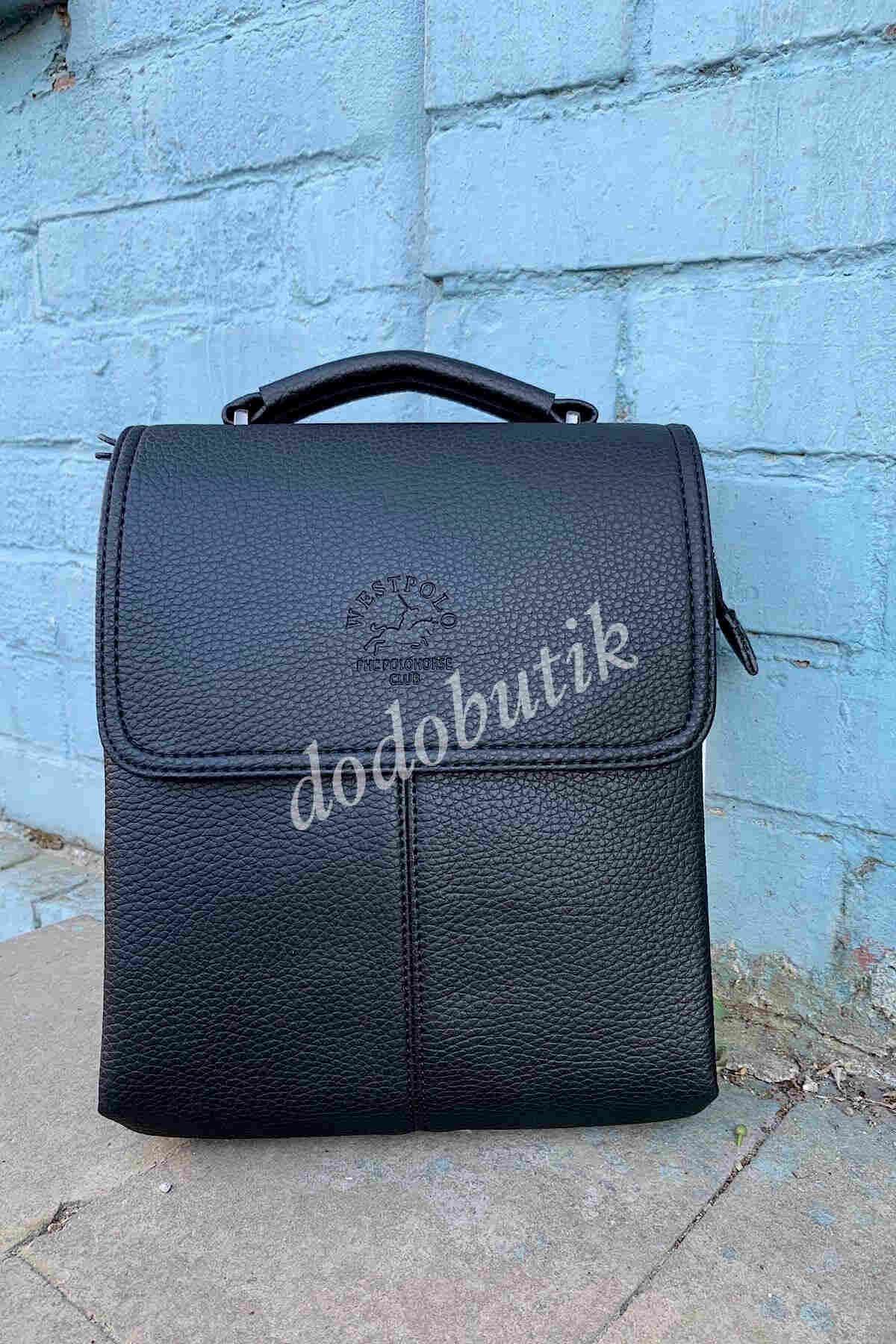 Siyah Omuz Askılı Postacı Çantası 7010