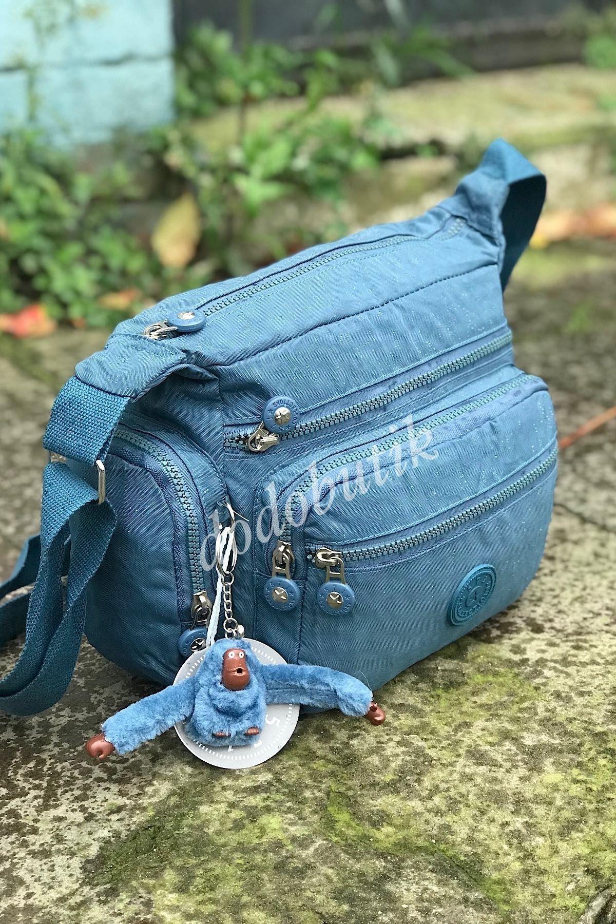 Kadın Mavi Klinkır Çapraz Çanta 17A