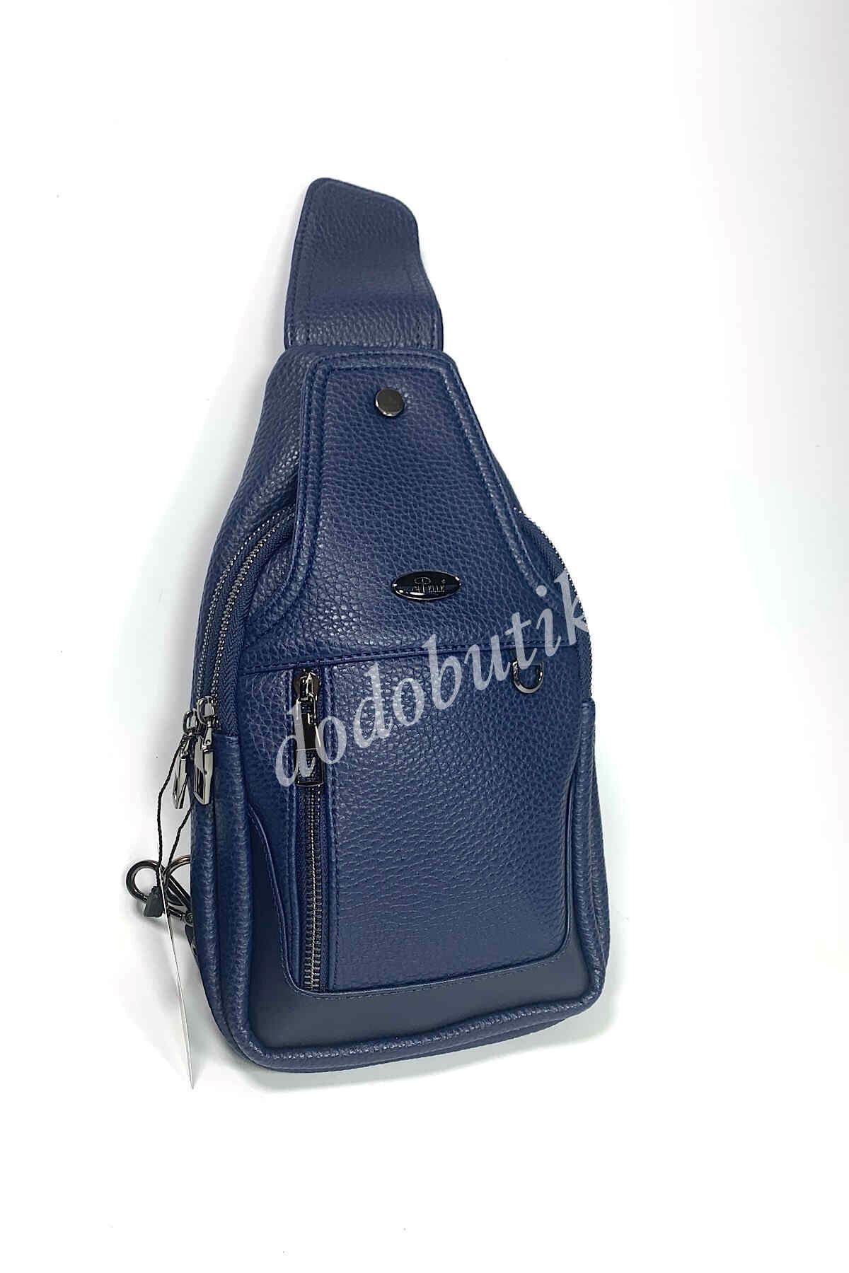 Lacivert Erkek Çapraz Omuz Çantası Bodybag DDA11