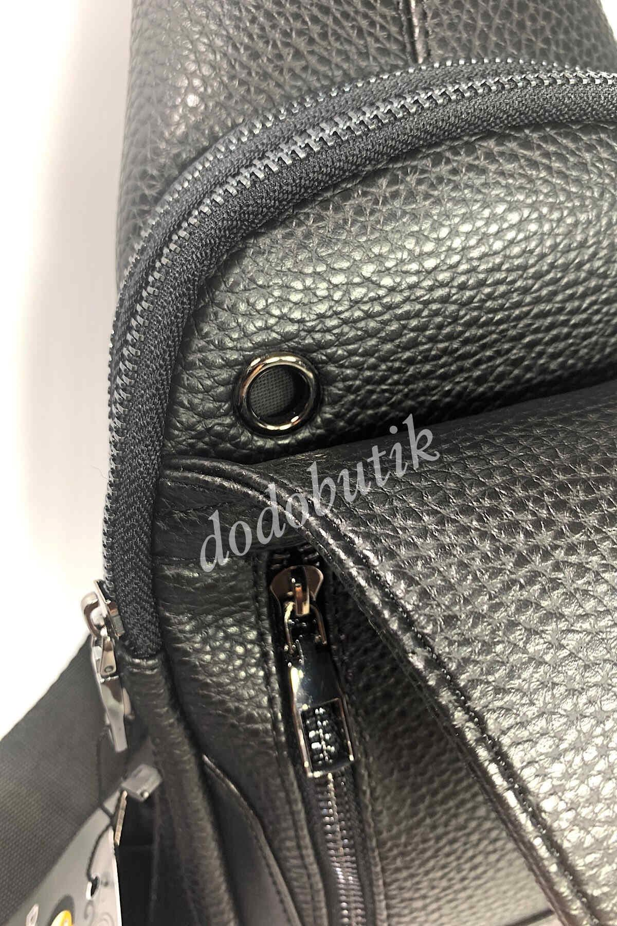 Siyah Erkek Çapraz Omuz Çantası Bodybag DDA11
