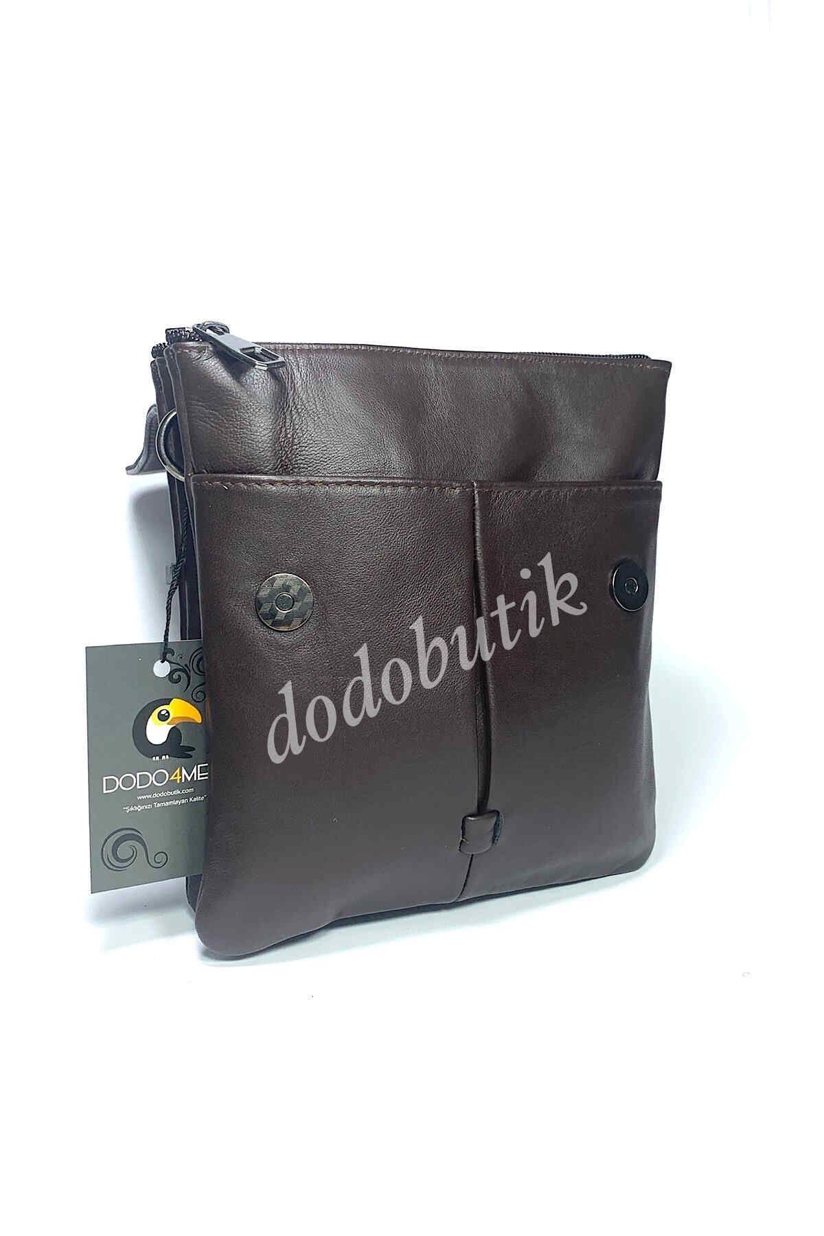 Kahverengi Hakiki Deri Erkek Postacı Çantası DDA21