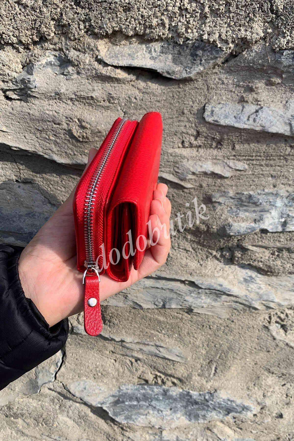 Kırmızı Deri Cüzdan WPL422