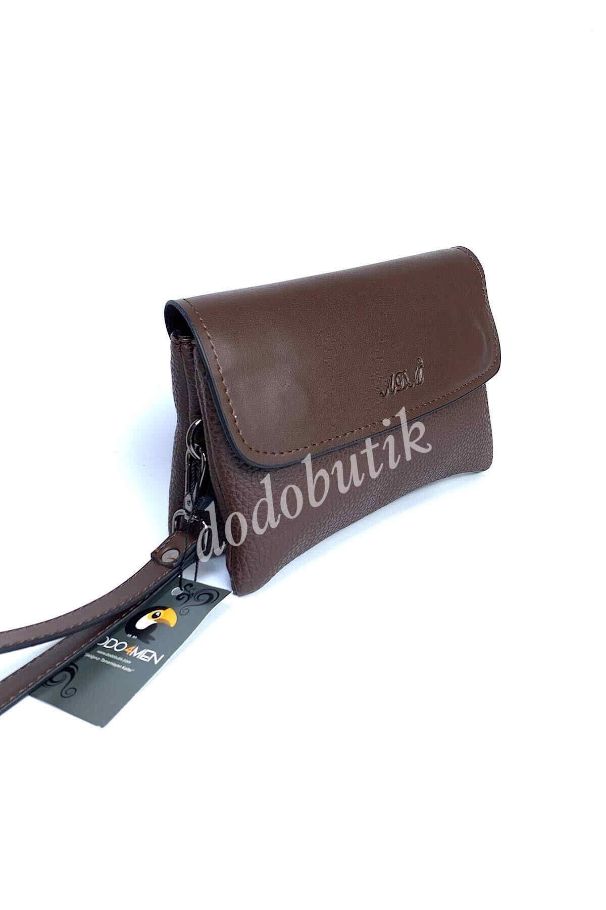 Kahverengi Deri El Çantası DDA60