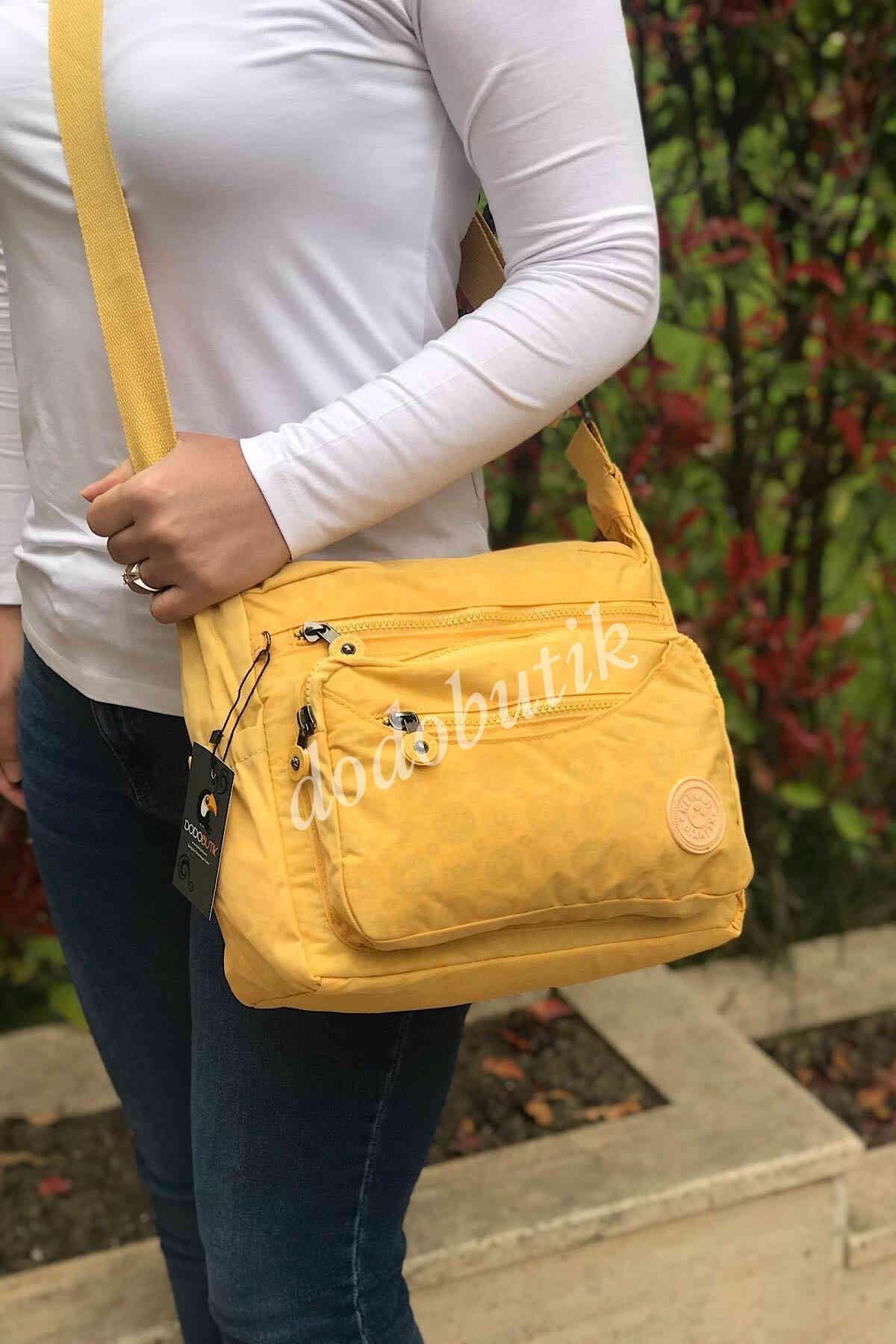 Kadın Sarı Klinkır Postacı Çantası 5827
